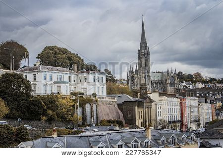 April 2015, Cobh Ireland: Scenery Of The Port Of Cobh, Town In Ireland Which Leads To Cork