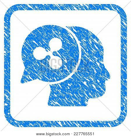 Ripple Business Idea Rubber Seal Stamp Imitation. Icon Vector Symbol With Grunge Design And Corrosio