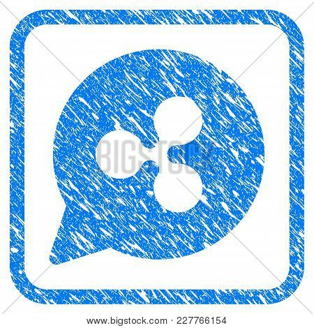 Ripple Hint Cloud Rubber Seal Stamp Watermark. Icon Vector Symbol With Grunge Design And Corrosion T
