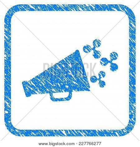 Ripple Megaphone Rubber Seal Stamp Watermark. Icon Vector Symbol With Grunge Design And Unclean Text