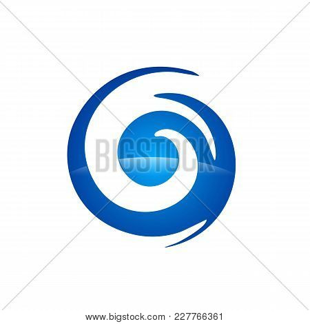 Abstract Logo For Business Company. Corporate Identity Design Element. Eco, Nature, Whirlpool, Spa,