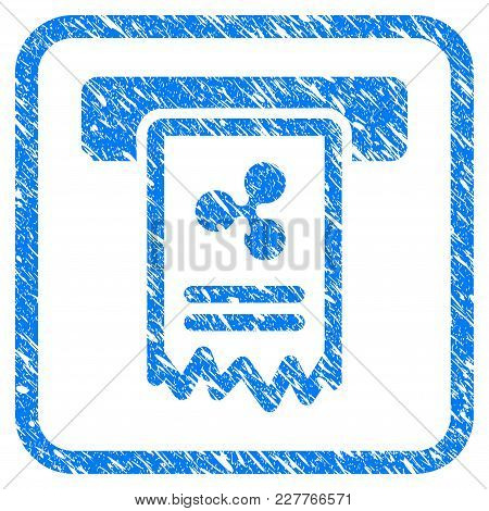 Ripple Cheque Payment Rubber Seal Stamp Imitation. Icon Vector Symbol With Grunge Design And Corrosi