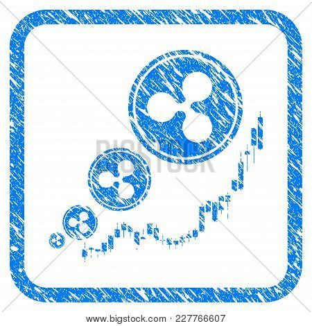 Ripple Inflation Chart Rubber Seal Stamp Watermark. Icon Vector Symbol With Grunge Design And Dust T