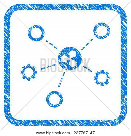 Ripple Network Structure Rubber Seal Stamp Watermark. Icon Vector Symbol With Grunge Design And Uncl