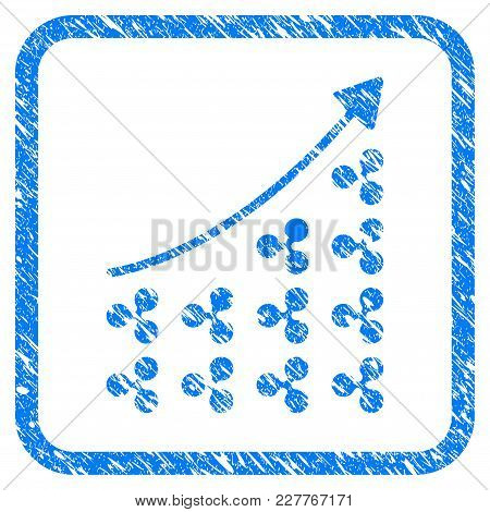 Ripple Growing Chart Rubber Seal Stamp Imitation. Icon Vector Symbol With Grunge Design And Unclean