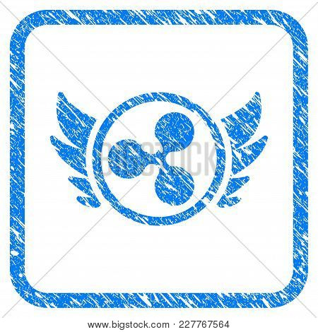 Ripple Angel Investment Rubber Seal Stamp Watermark. Icon Vector Symbol With Grunge Design And Corro