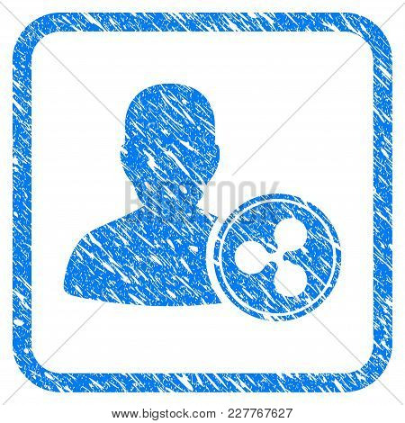 Ripple Banker Rubber Seal Stamp Watermark. Icon Vector Symbol With Grunge Design And Unclean Texture