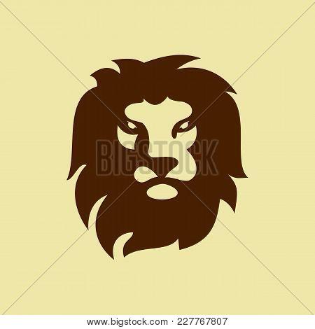 Lion Head Logo. Wild Lion Head Graphic Illustration. Design Element. Icon Head Lion. Eps.cs6