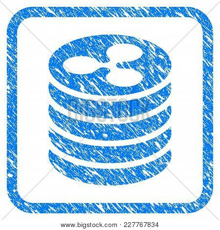 Ripple Coin Stack Rubber Seal Stamp Watermark. Icon Vector Symbol With Grunge Design And Unclean Tex