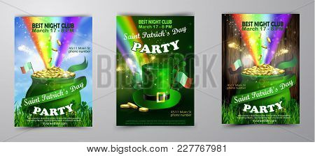 Vector St. Patrick S Day Poster Design Template Set