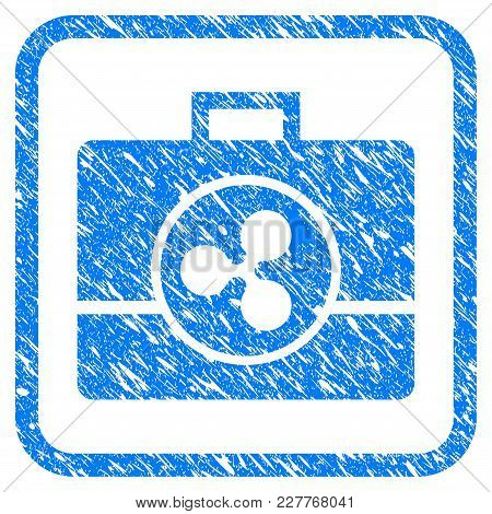 Ripple Business Case Rubber Seal Stamp Watermark. Icon Vector Symbol With Grunge Design And Corrosio
