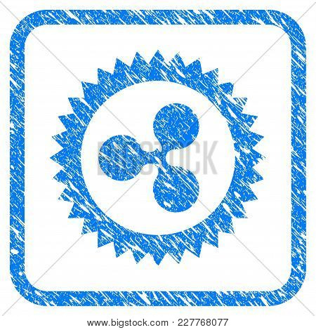 Ripple Insignia Stamp Rubber Seal Stamp Watermark. Icon Vector Symbol With Grunge Design And Corrosi