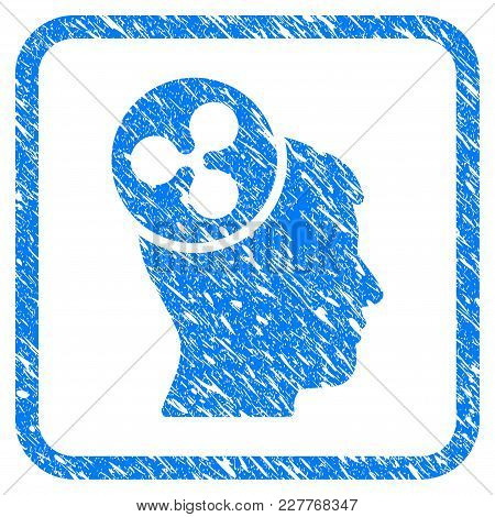 Ripple Idea Head Rubber Seal Stamp Imitation. Icon Vector Symbol With Grunge Design And Unclean Text