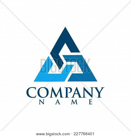 Abstract Triangle Logo, Creative Media Play Logo, Vector Logo Concept Illustration,media Logo Sign,