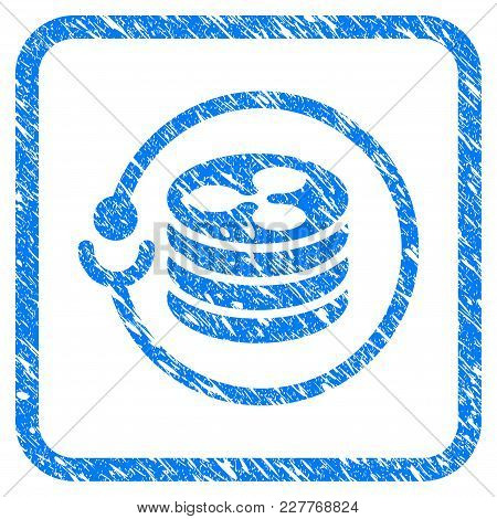 Ripple Masternode Rubber Seal Stamp Imitation. Icon Vector Symbol With Grunge Design And Dust Textur