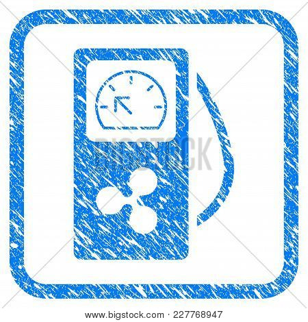 Ripple Gasoline Station Rubber Seal Stamp Watermark. Icon Vector Symbol With Grunge Design And Corro