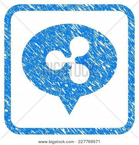 Ripple Hint Balloon Rubber Seal Stamp Imitation. Icon Vector Symbol With Grunge Design And Dust Text