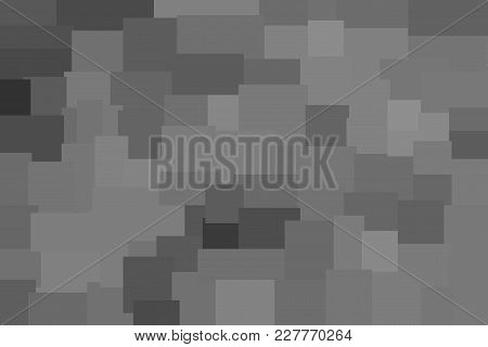 Grey Abstract Polygonal Background Made Of Rectangles