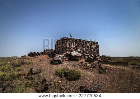 Agate House Ruin At Petrified Forest National Park Near Holbrook Arizona Usa