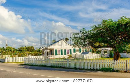 Grand Cayman, Cayman Islands, Dec 2016, Caribbean House Style By The Roadside