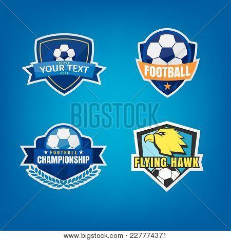 Football Of Soccer Logo Design Set,vector Illustration