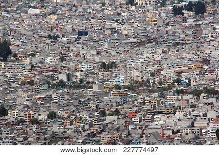 Quito, Ecuador Dense Urban City Concrete Buildings