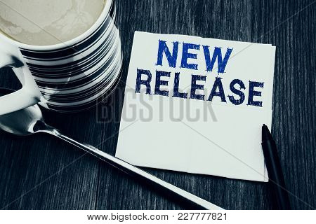 Handwritten Text Showing New Release . Business Concept For Technology Software Update Written On Ti