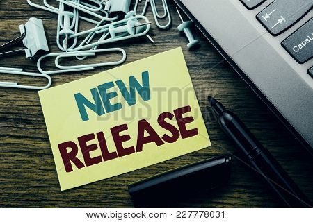 Handwriting Announcement Text Showing New Release . Business Concept For Technology Software Update