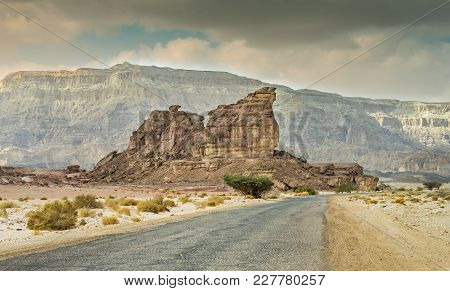 Geological Nature Park Timna Is Located 25 Km North Of Eilat (israel); It Combines Beautiful Scenery
