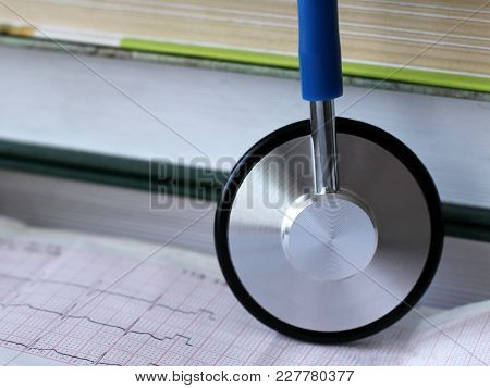 Stethoscope For Doctor And Medical Nursing People In Hospital, Healing Of Patients.