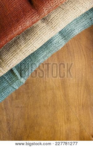 National Flag Luxembourg On A Wooden Background