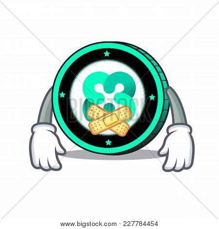 Silent Ethos Coin Mascot Cartoon Vector Illustration
