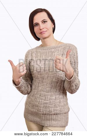 The Girl The Brunette In A Sweater