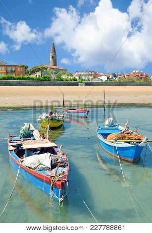 Town Of Caorle At Adriatic Sea In Veneto,italy