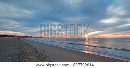 Sunrise Over Beach In San Jose Del Cabo In Baja California Mexico Bcs