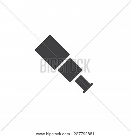 Spyglass Vector Icon. Filled Flat Sign For Mobile Concept And Web Design. Telescope Simple Solid Ico