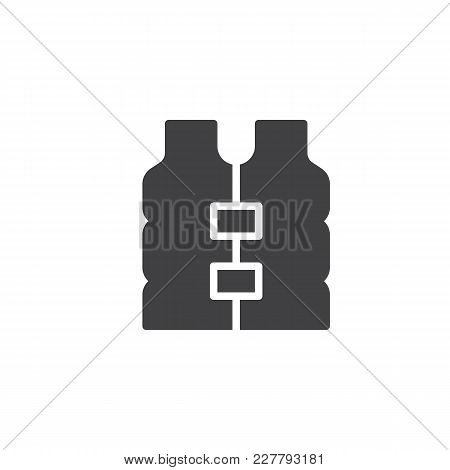 Life Jacket Vector Icon. Filled Flat Sign For Mobile Concept And Web Design. Life Vest Simple Solid
