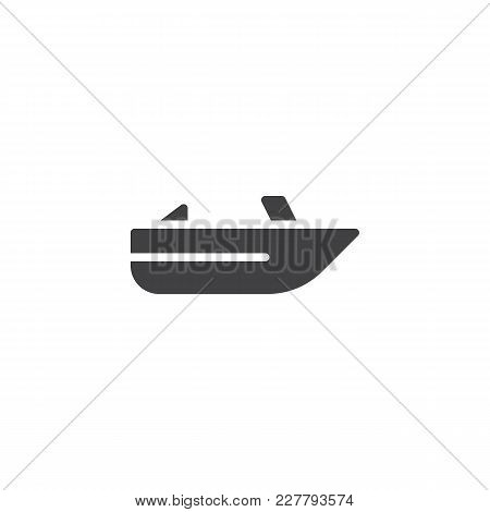 Roofless Speed Boat Vector Icon. Filled Flat Sign For Mobile Concept And Web Design. Pleasure Boat S