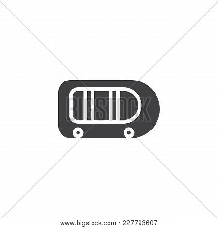 Inflatable Boat Vector Icon. Filled Flat Sign For Mobile Concept And Web Design. Rubber Raft Simple