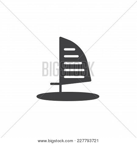 Windsurf Board Vector Icon. Filled Flat Sign For Mobile Concept And Web Design. Windsurfing Simple S