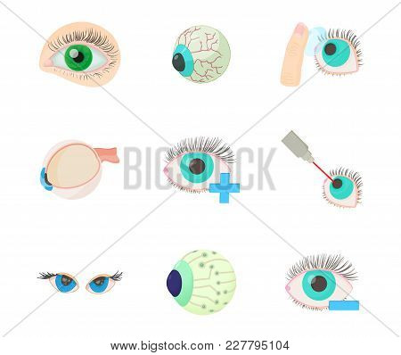 Eyes Icon Set. Cartoon Set Of Eyes Vector Icons For Web Design Isolated On White Background