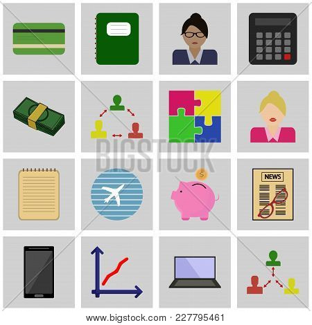 Icon Of Business. Vector Revenue Web Collection.