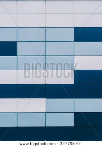 Square Color Background, Blue And White Colors