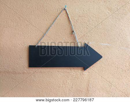 Blank direction arrow
