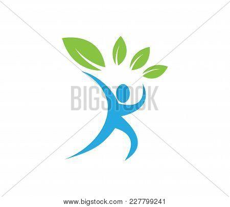 Health Care Wellness Vector Logo Design