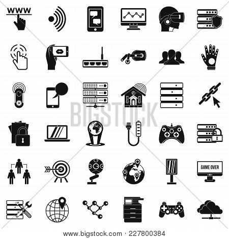 Broadcaster Icons Set. Simple Set Of 36 Broadcaster Vector Icons For Web Isolated On White Backgroun