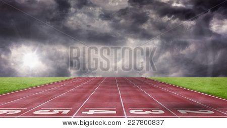 Digital composite of Composite image of athletics