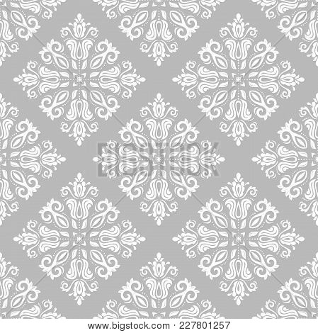 Classic Seamless Vector Light Pattern. Damask Orient Ornament. Classic Vintage Background