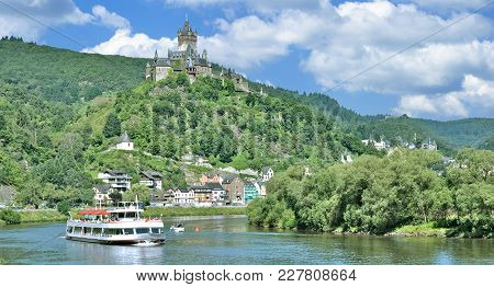 Village Of Cochem At Mosel River In Mosel Valley,rhineland-palatinate,germany