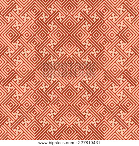 Seamless Background Southeast Asian Retro Aboriginal Traditional Art Textile Pattern Geometry Spiral